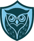 owl inside a shield