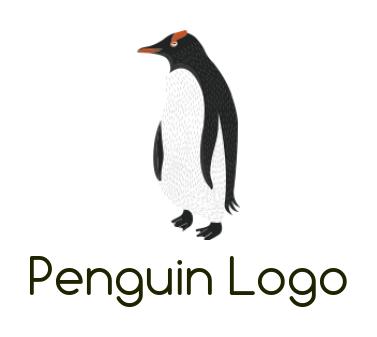 Penguin with abstract detailed