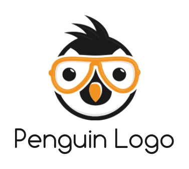Penguin with colored Glasses