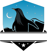 penguin with shield moon and stars