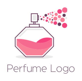 perfume spray with circles
