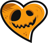 jack o lantern shape of heart
