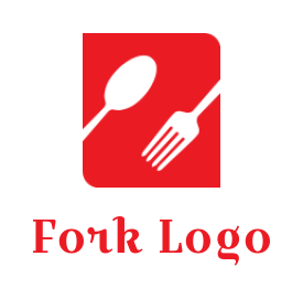 Spoon and fork forming Letter Z Shape