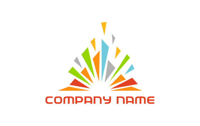 sun rays in pyramid logo template by logodesign net