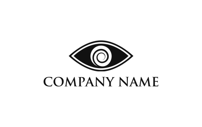 swirl made of letter o and merged with eye | Logo Template by