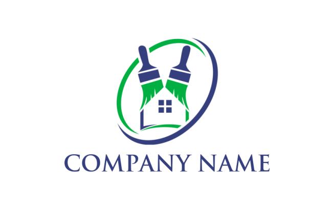 900 Premium Painters Logos Free Paintbrush Logo Generator