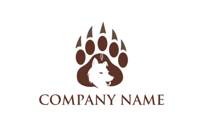Wolf Inside Paw Print Logo Template By Logodesign Net Free icons of paw in various ui design styles for web, mobile, and graphic design projects. wolf inside paw print logo template
