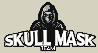 hooded skull mascot with a mask