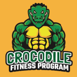 alligator showing muscular body mascot