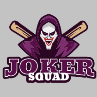 joker wearing hoodie with laughing face