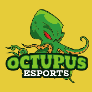 octopus mascot logo with anger