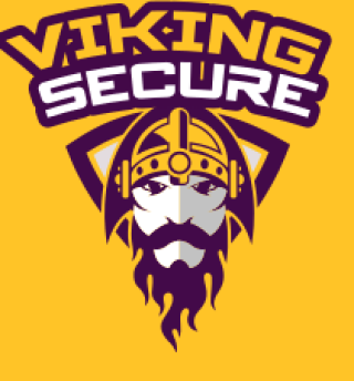 viking face profile wearing helmet and shield at the back mascot